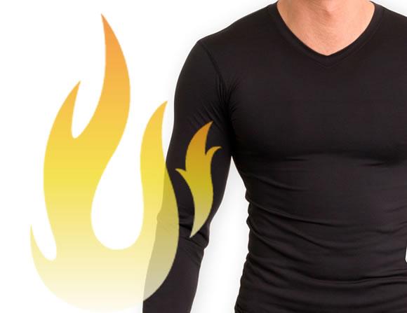 長袖の加圧シャツ
